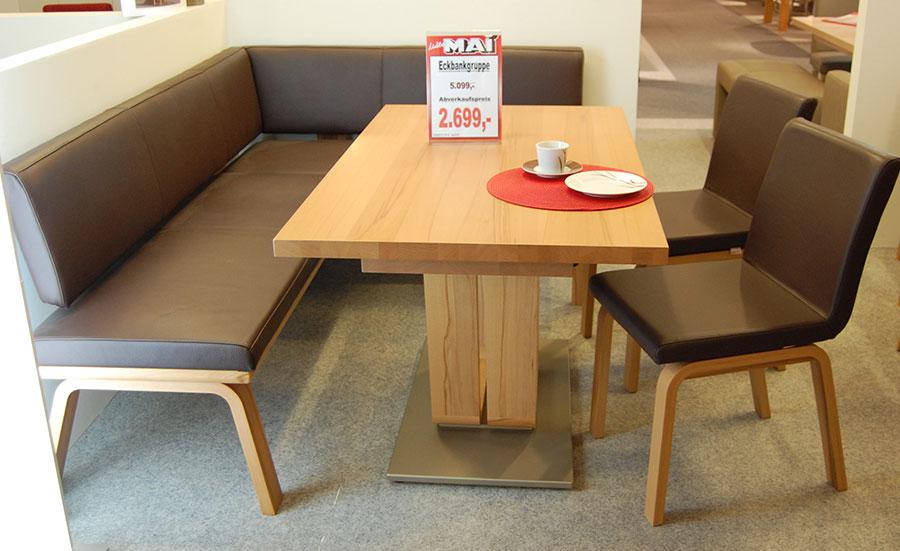 Sonstige-abverkauf - Möbel Mai Eckbankgruppe Leder Braun